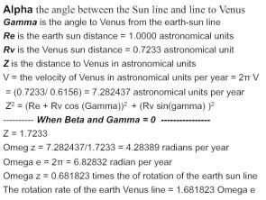 table 1 venus orbit
